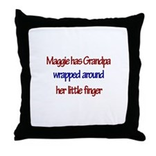 Maggie - Grandpa Wrapped Arou Throw Pillow