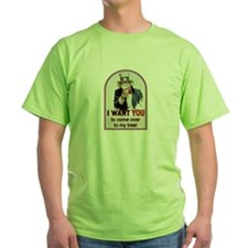 Come over to My Place Green T-Shirt