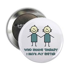 "Sisters Fun 2.25"" Button (10 pack)"