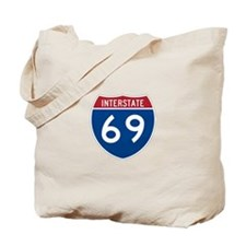 Interstate 69 Tote Bag