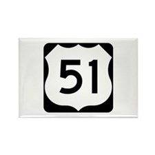 US Highway 51 Rectangle Magnet