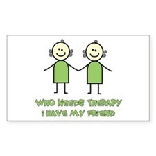 Therapy For Friends Rectangle Decal