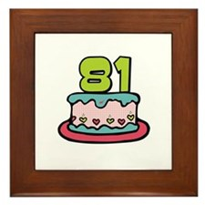 81st Birthday Cake Framed Tile