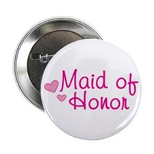 "Maid Of Honor 2.25"" Button"