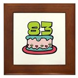 83rd Birthday Cake Framed Tile