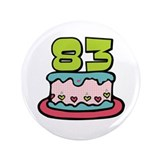 "83rd Birthday Cake 3.5"" Button"
