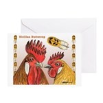 Sicilian Buttercup Chickens Greeting Card