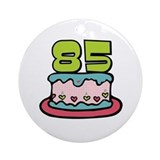 85th Birthday Cake Ornament (Round)