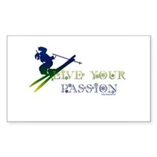LIVE YOUR PASSION Rectangle Decal