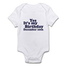 December 10th Birthday Infant Bodysuit