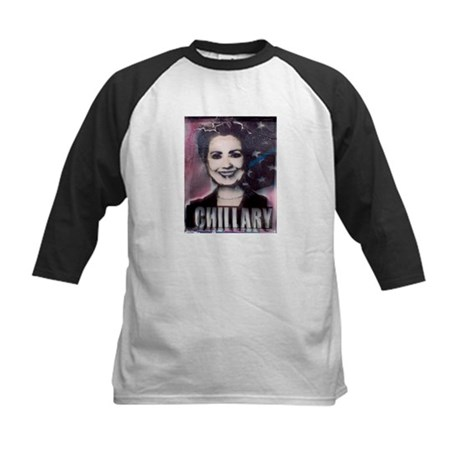 Chillary Photo Fresco Hillary Kids Baseball Jersey
