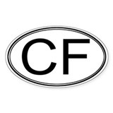ColdFusion Oval Decal