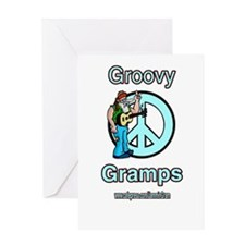 GROOVY GRAMPS Greeting Card