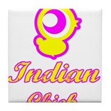 Indian Chick Tile Coaster