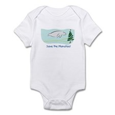 Save the Manatees Christmas Tree Infant Bodysuit