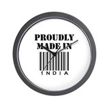 Proudly made in India Wall Clock