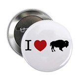 I Love Buffalo Button