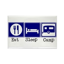 Eat, Sleep, Camp (Travel Trai Rectangle Magnet (10