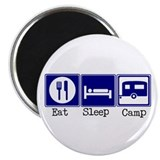 Eat, Sleep, Camp (Travel Trai Magnet