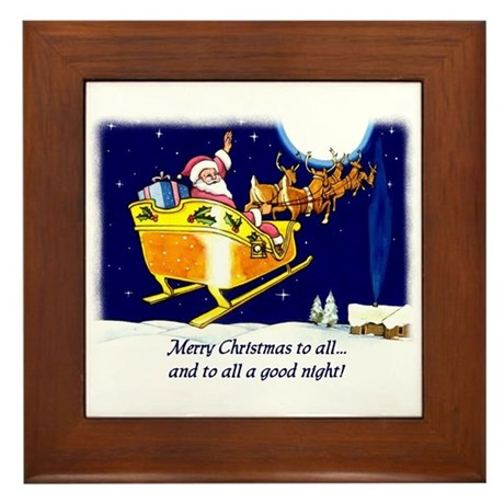 To All a Good Night Framed Tile