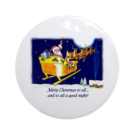To All a Good Night Ornament (Round)