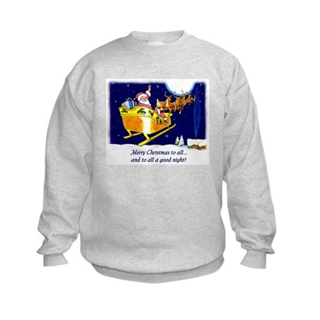 To All a Good Night Kids Sweatshirt