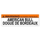 AMERICAN BULL DOGUE DE BORDEAUX Bumper Bumper Sticker