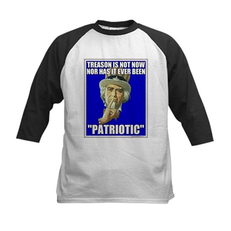 Treason Is Not Patriotic Kids Baseball Jersey