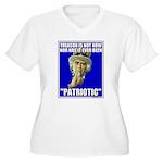 Treason Is Not Patriotic Women's Plus Size V-Neck