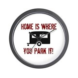 Home (Travel Trailer) Wall Clock