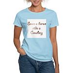 Save a Horse Ride a Cowboy Women's Pink T-Shirt