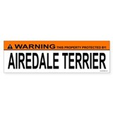 AIREDALE TERRIER Bumper Car Sticker