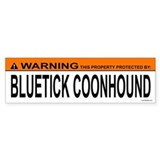 BLUETICK COONHOUND Bumper Car Sticker