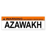 AZAWAKH Bumper Car Sticker