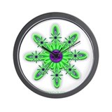Alien Blacklight Flower Wall Clock