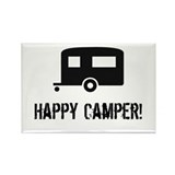 Happy Camper Rectangle Magnet (10 pack)