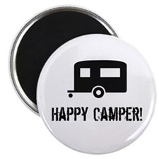 "Happy Camper 2.25"" Magnet (100 pack)"