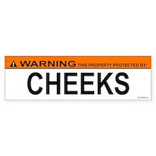 CHEEKS Bumper Bumper Sticker