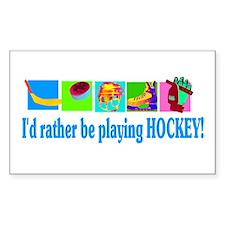 Ice Hockey Rectangle Decal