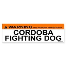 CORDOBA FIGHTING DOG Bumper Bumper Sticker