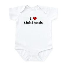 I Love tight ends Infant Bodysuit