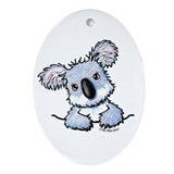 Pocket Koala Oval Ornament