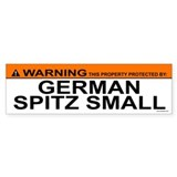 GERMAN SPITZ SMALL Bumper Car Sticker
