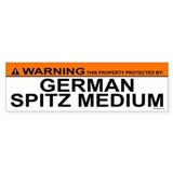 GERMAN SPITZ MEDIUM Bumper Car Sticker