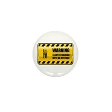 Warning X-Ray Technician Mini Button (100 pack)