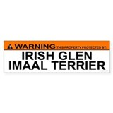 IRISH GLEN IMAAL TERRIER Bumper Car Sticker