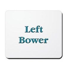 Left Bower Euchre Mousepad