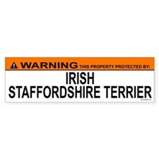 IRISH STAFFORDSHIRE TERRIER Bumper Bumper Sticker
