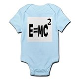 E=MC2 (black) Infant Bodysuit