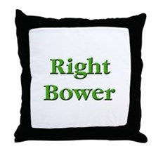 Right Bower Euchre Throw Pillow